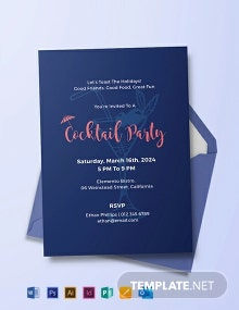 Free Cocktail Party Invitation Template