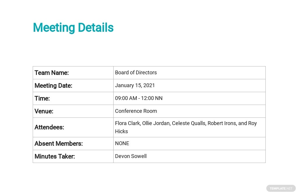 Minutes of Meeting of Directors First Template 1.jpe
