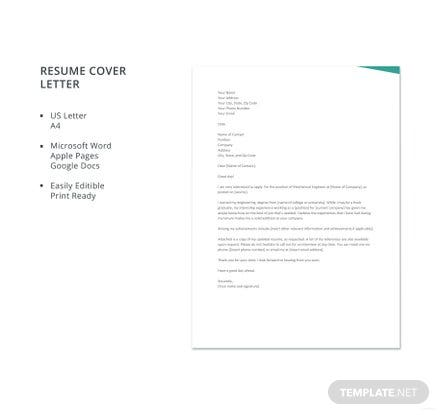 free electrician resume cover letter template in microsoft word