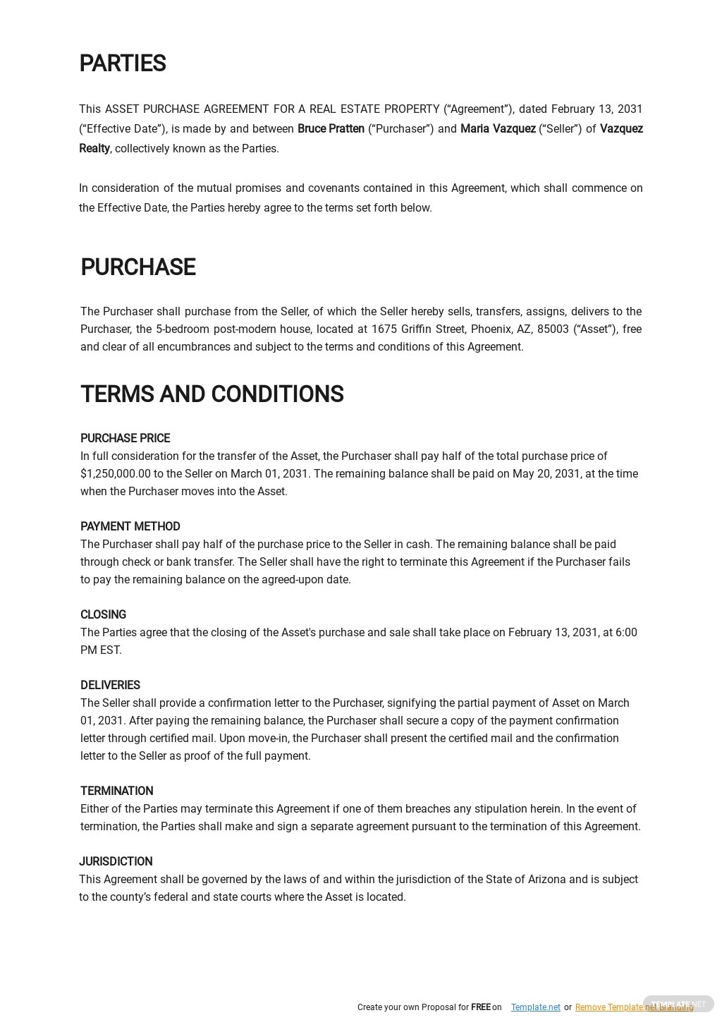Asset Purchase Agreement For a Real Estate Property Template 1.jpe