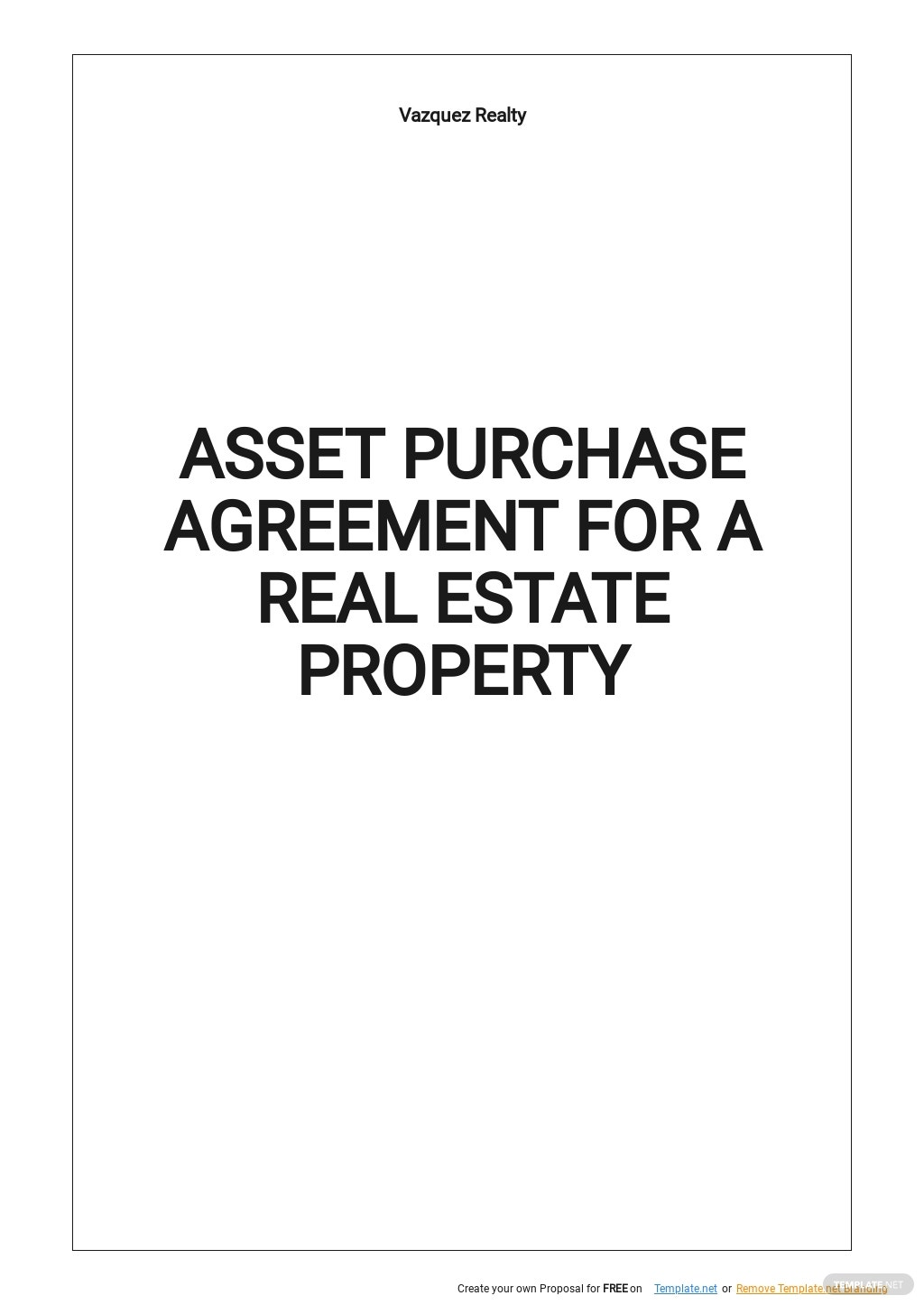 Asset Purchase Agreement For a Real Estate Property Template.jpe