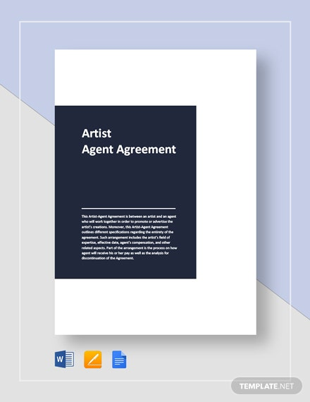 Artist Agent Agreement Template