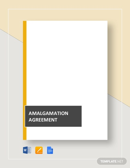 Amalgamation Agreement Template