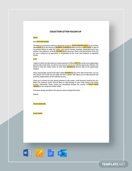 Collection Letter Follow-Up Template