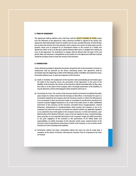 Sample Executive Employment Agreement with Car Allowance