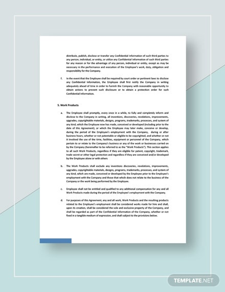 Exclusivity Confidentiality and Assignment of Work Product Download