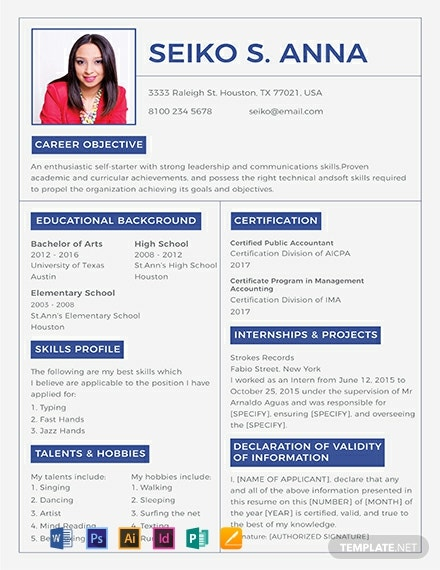 College Resume Template