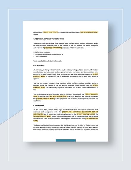 Legal Notice Download