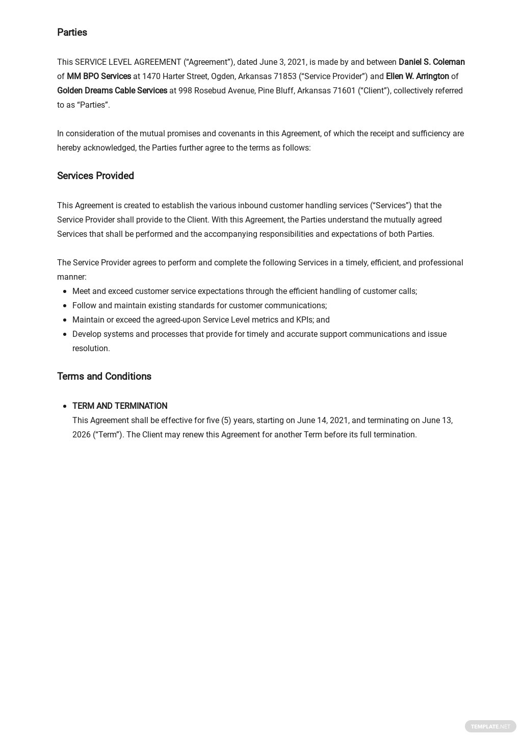 Simple Service Level Agreement Template 1.jpe