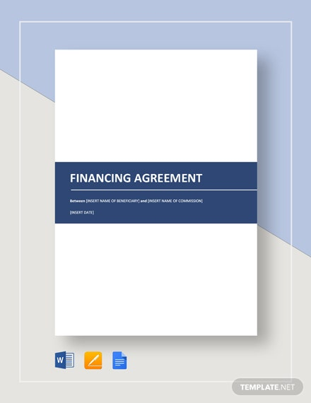 Financing Agreement Template
