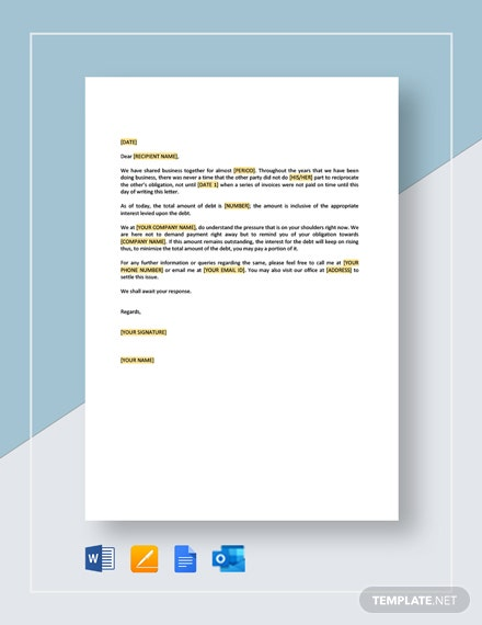 Collection Letter Requesting Contact and Proposal