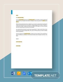Apology for Not Crediting Payment Template
