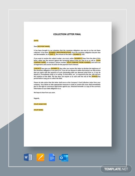 Collection Letter Final Template