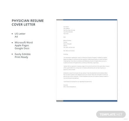 Letter To Physician Template For Products