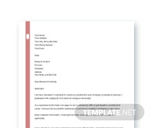 Free Professional Freshers Sample Cover Letter Template