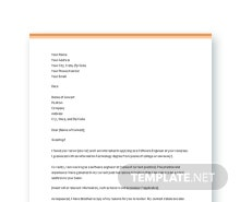 Resume Cover Letter Template For Software Engineer Fresher  Resume Cover Pages