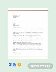 Free Resume Cover Letter Format