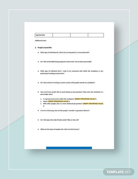 Sample Worksheet Self Assessment Template