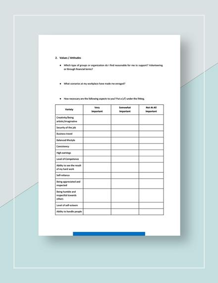 Worksheet Self Assessment Download