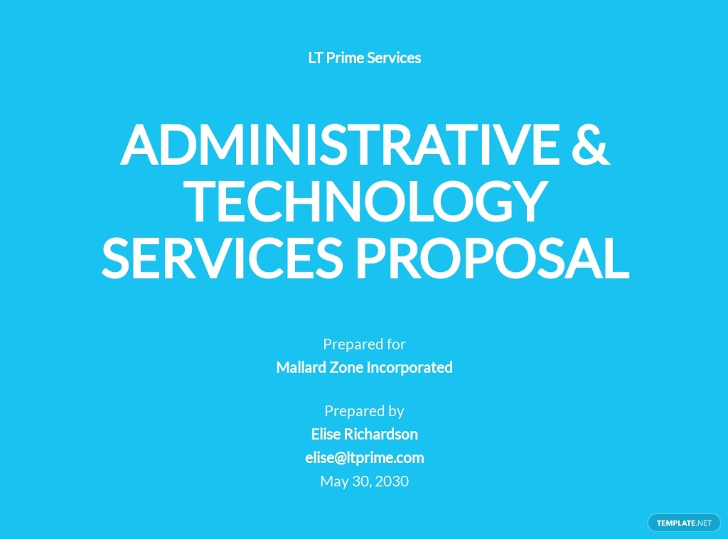 Administrative and Technology Services Outsourcing Proposal Template