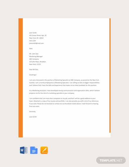 66 Free Cover Letter Templates Download Ready Made Samples