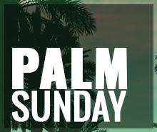 Free Palm Sunday Flyer Template