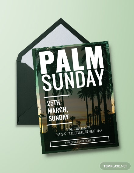 Free Palm Sunday Invitation Template