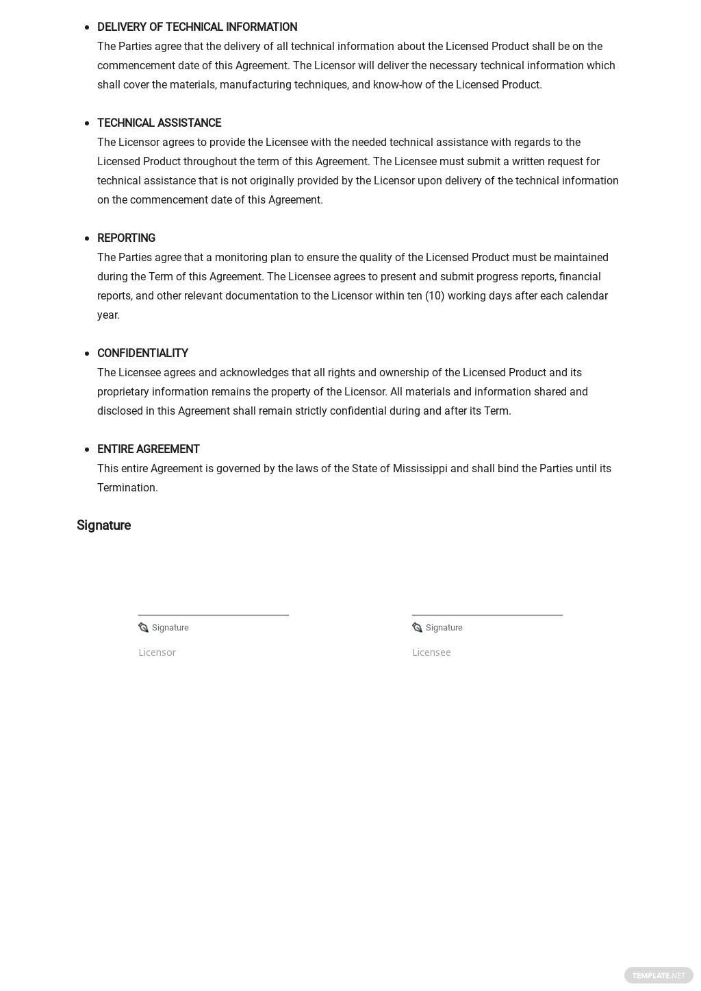 License Agreement Non Exclusive License To Manufacture Template 2.jpe