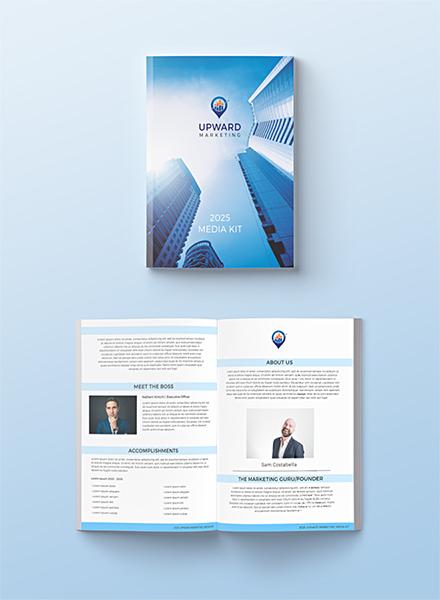advertising media kit template - free media kit templates download ready made