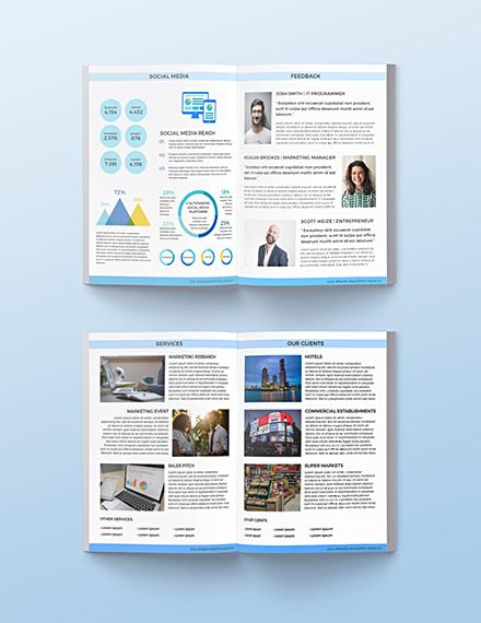 Free Printable Marketing Media Kit Template