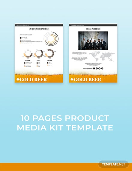 Free Printable Product Media Kit Template