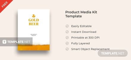 Free Product Media Kit Template