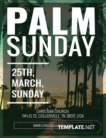 Free Palm Sunday Poster Template