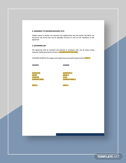 Assignment of Copyright Download