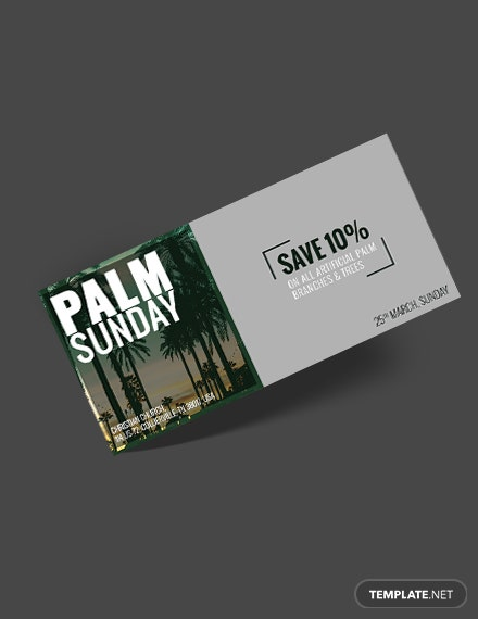 Free Palm Sunday Voucher Template