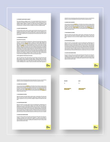 Digital Marketing Contract Download