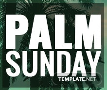 Free Palm Sunday Facebook App Cover Template