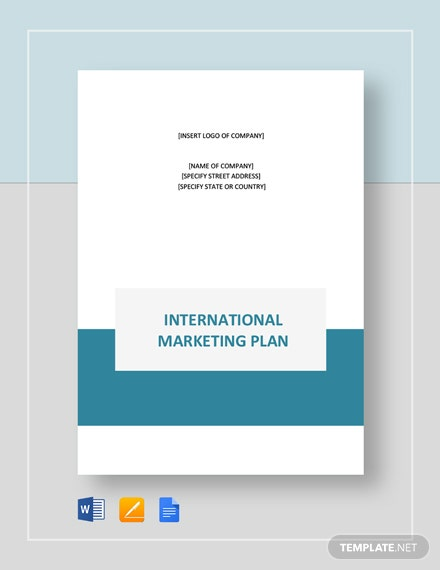 International Marketing Plan Template