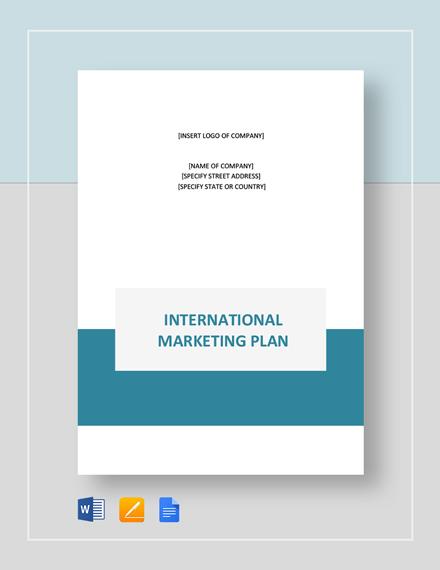 International Marketing Plan Template