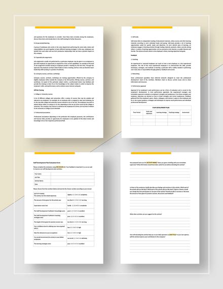 Staff Development Plan Download