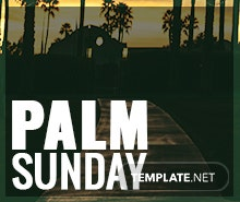 Free Palm Sunday Google Plus Cover Template