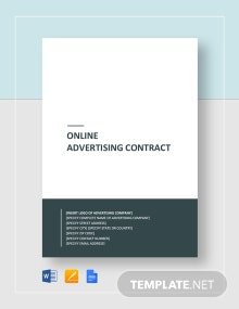 Online Advertising Contract Template