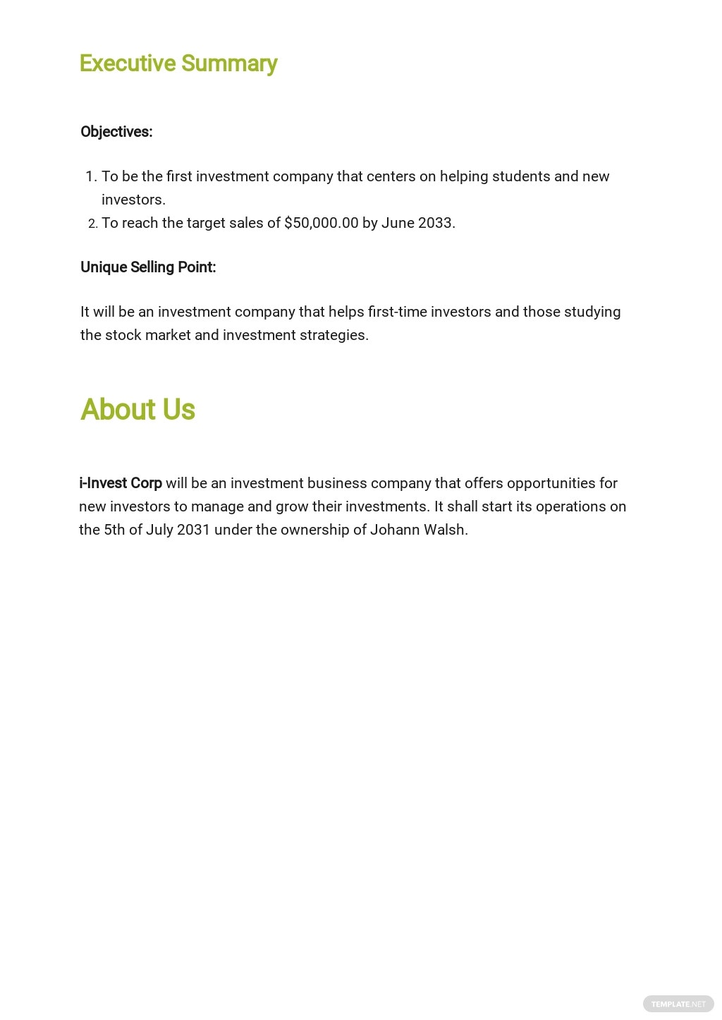 Investment Company Business Plan Template 1.jpe