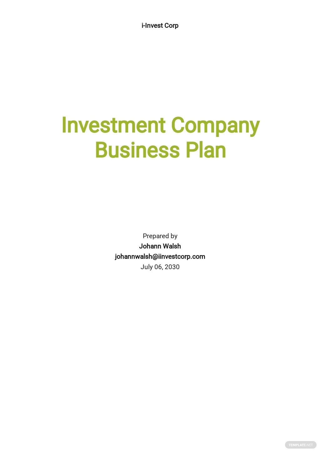 Investment Company Business Plan Template.jpe