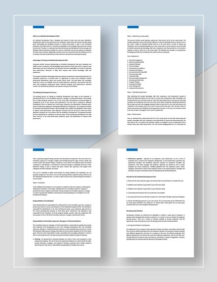 Individual Development Plan Download