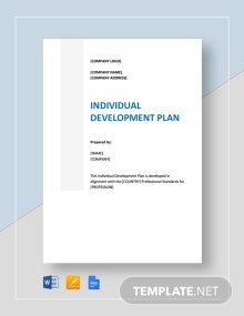 Individual Development Plan Template