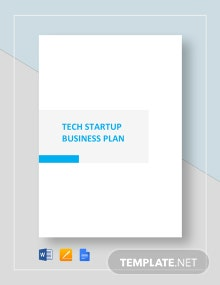 Technology Startup Business Plan Template
