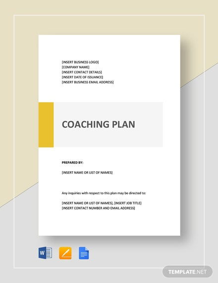 Coaching Plan Template