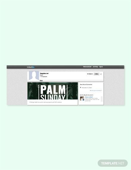 Free Palm Sunday LinkedIn Blog Post Template