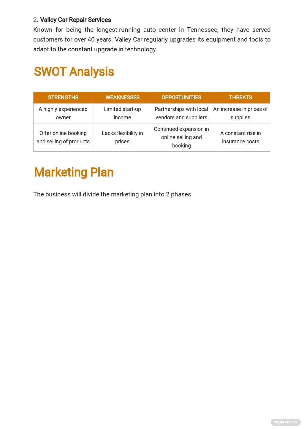 Auto Repair Service Business Plan Template 3.jpe